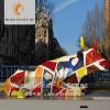 模型亚博官网app网【上海升美】彩绘牛玻璃钢雕塑树脂模型摆件定制