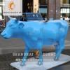 模型迅收网【上海升美】彩绘牛玻璃钢雕塑树脂模型摆件定制