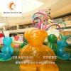 【上海升美】透明泰迪熊玻璃钢雕塑仿真动物雕塑