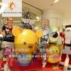 【上海升美】小熊跳跳虎玻璃钢雕塑仿真动物雕塑定制