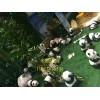 苏州雕塑厂家制作仿真玻璃钢熊猫雕塑室内商场景观雕塑摆件定制