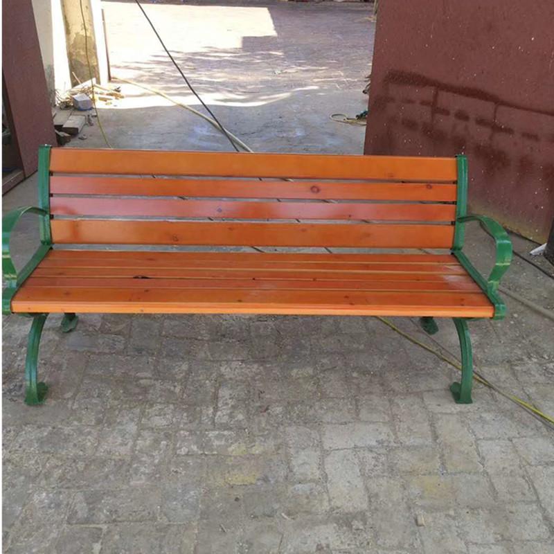 批发定制 户外休闲椅 公园椅 实木 塑木制作