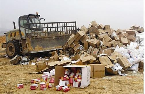 成都方便食品销毁价格