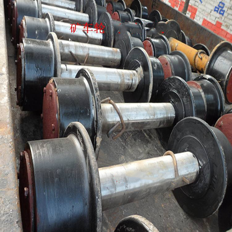 厂家出售铸钢矿用轮对,矿车轮对厂家