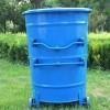 供应 300升圆桶 带盖带轮垃圾桶 环卫垃圾桶