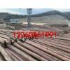 回收油木杆油炸杆防腐木杆木电杆黑油杆 防腐木质电线杆电柱的