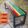 木质座椅铸铝脚长条椅凳 厂家定制销售