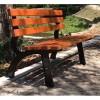 园林椅铸铝防腐木长条椅 美观耐用不变形