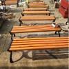 休闲平凳 防腐木铸铝长条凳 厂家定制批发