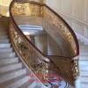 鋁雕樓梯護欄 拉絲紅古銅鋁藝扶手價格惠民