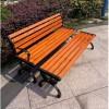 定制销售 园林椅 实木座椅 休闲排椅