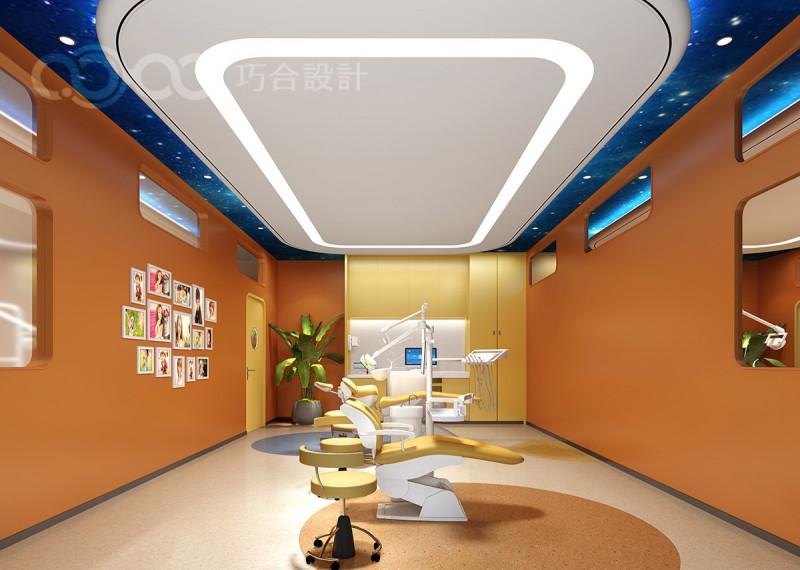 杭州专业口腔装修设计公司案例,儿童口腔装修设计效果图