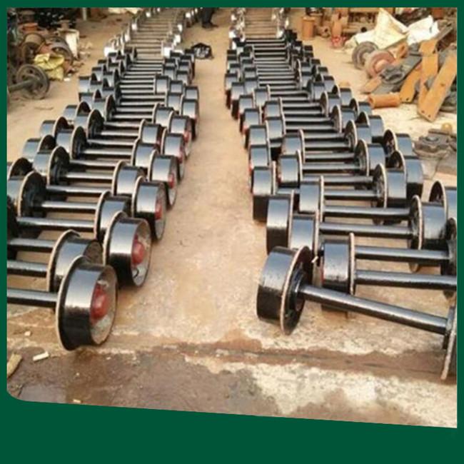 出售矿车轮对 优质锻打轴矿车轮 承受高吨位