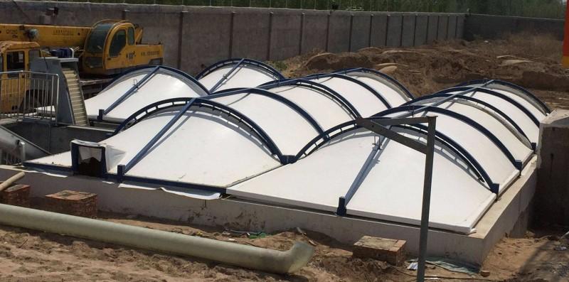 菏泽巨野膜结构污水池加盖专业施工厂家-巨野沼气池膜结构加盖