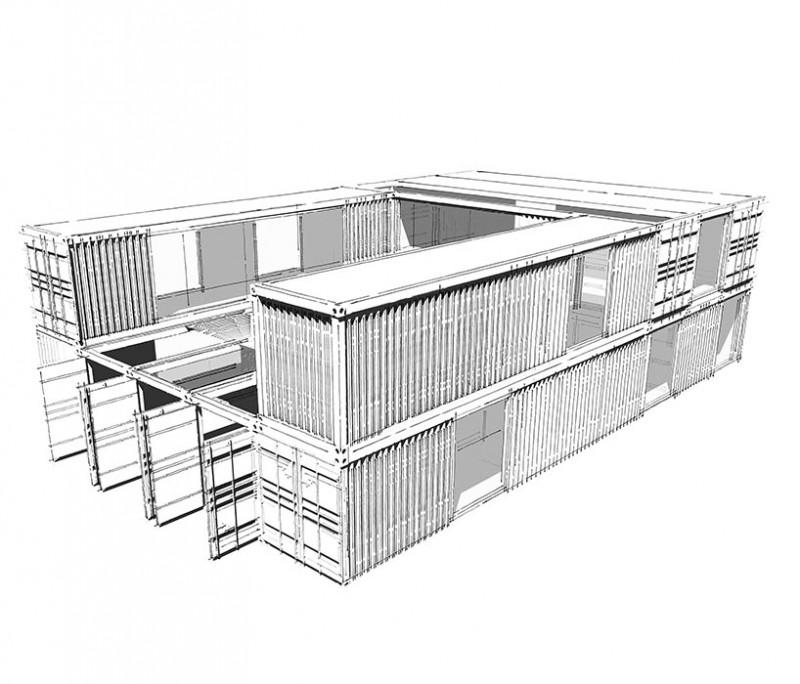 MOVETO 美途™210㎡两层集装箱办公楼