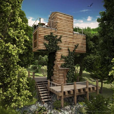 MOVETO美途十字组合四层集装箱小屋(集装箱活动房屋)